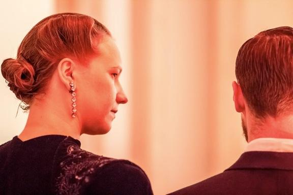 <p>Alexander Sebastian with Alicia Huberman</p>