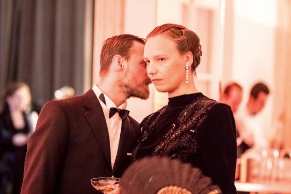 <p>Alexander Sebastian with Alicia Huberman<br /></p>