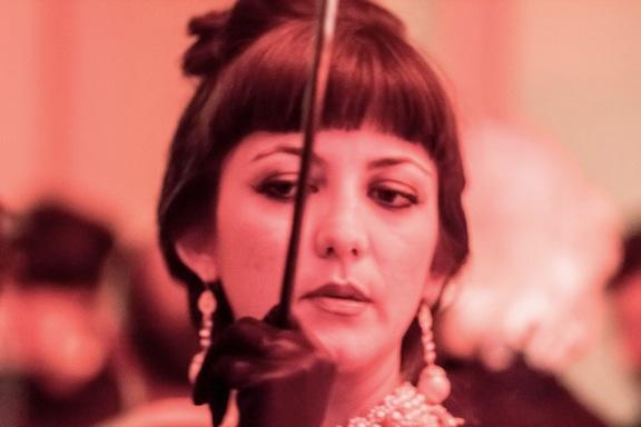 <p>Didem Erk is Audrey Hepburn as Holly Golightly<br /></p>