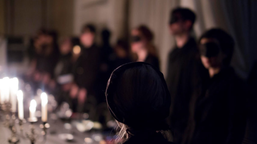 <p><i>Dîner Noire</i>, Tristan Bera, Dominique Gonzalez-Foerster with the exclusive participation of Catherine Robbe-Grillet and Beverly Charpentier, 2014, Protocinema, Istanbul</p>