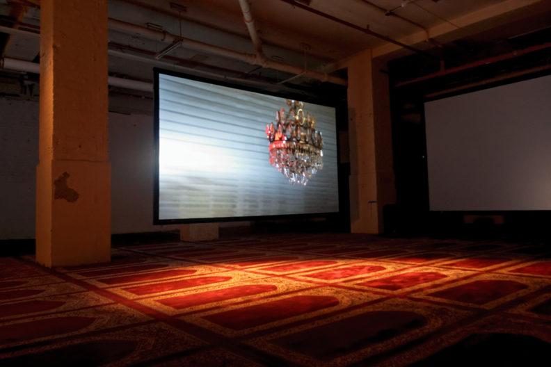 <p>Köken Ergun,<i>Ashura</i>, 2012, installation, Protocinema, New York, photo by Ergu</p>