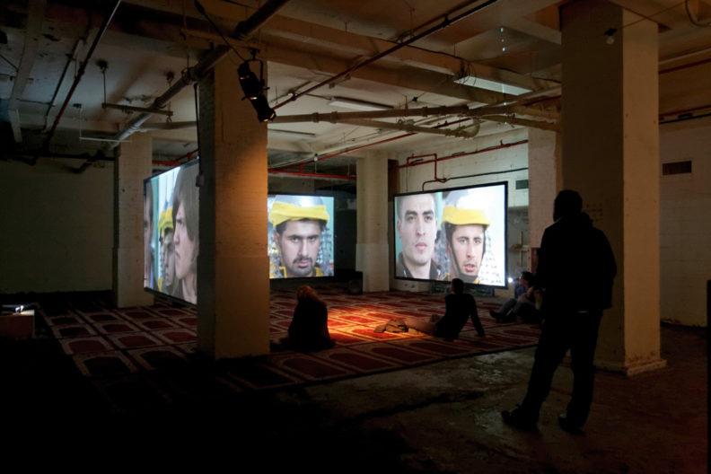 <p>Köken Ergun, <i>Ashura</i>, 2012, installation, Protocinema, New York, photo by Ergu</p>