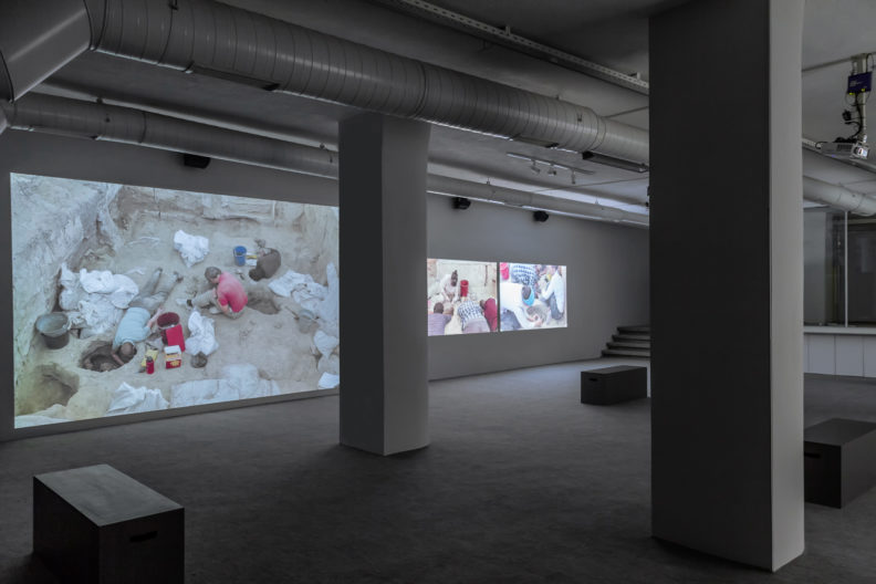 <p>Rossella Biscotti, <em>The City</em>, 2018, installation, produced by Protocinema, Istanbul, with support from Mondriaan Fund and NEARCH project, supported by the European Commission, courtesy Wilfried Lentz Gallery, Rotterdam and mor charpentier, Paris.</p>
