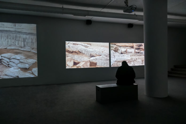 <p>Rossella Biscotti, <i>The City</i>, 2018, installation, produced by Protocinema, Istanbul, with support from Mondriaan Fund and NEARCH project, supported by the European Commission, courtesy Wilfried Lentz Gallery, Rotterdam and mor charpentier, Paris.</p>