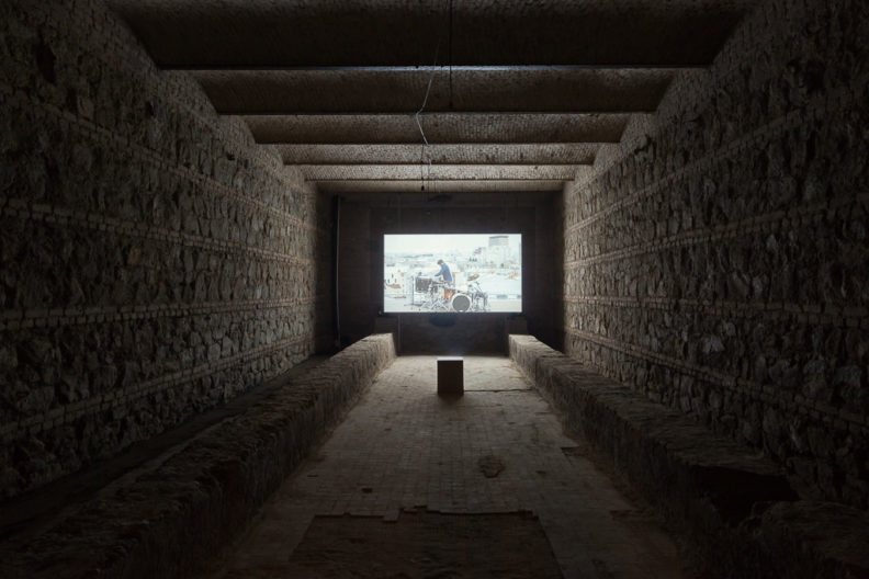 <p>Angelica Mesiti, <em>Relay League</em>, 2017, installation view, Protocinema at Kunsthalle Tbilisi commissioned by Artspace, Sydney with support by Commissioning Partner the Keir Foundation and the Australia Council for the Arts; courtesy: Anna Schwartz Gallery, Melbourne; and Galerie Allen, Paris. photo: Guram Kapandaze</p>