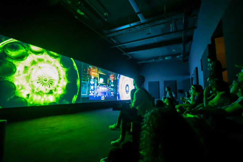<p>Liu Chuang, <i>Bitcoin Mining and Field Recordings of Ethnic Minorities</i>, 2018, Installation, Commissioned for Cosmopolis #1.5: Enlarged Intelligence with the support of the Mao Jihong Arts. Foundation, courtesy Antenna Space, Shanghai, Protocinema, Istanbul, New York.</p>