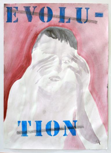 <p><em>Evolution</em>, 2011, by Mark Van Yetter, water color on paper, 69 x 49 cm</p>
